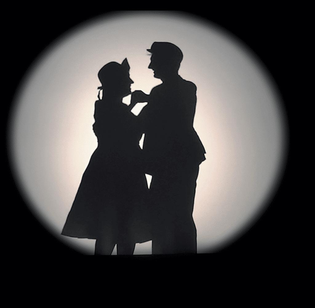 Germaine et Léon en ombre chinoise