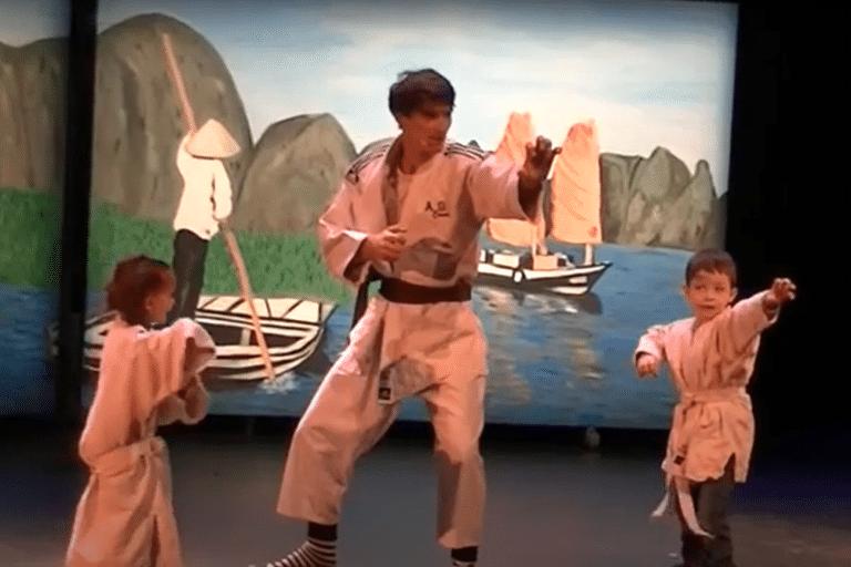 karate avec les enfants